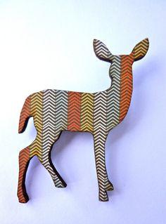 {chevron deer brooch}