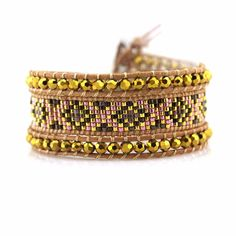 [TTT Jewelry] Handmade Braid bracelet bangle crystal leather wrap stainless steel clasp Charm bracelet Adjustable bracelet