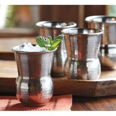 Hammered Stainless Steel Tumblers - Set of four, http://www.amazon.com/dp/B005Z558DO/ref=cm_sw_r_pi_awdm_9YBnub0C8QZTM