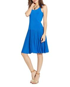 Lauren Ralph Lauren Pleated Tank Dress | Bloomingdale's