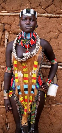 The Hamars are a people of East Africa living in southwestern Ethiopia in a fertile area of the Omo Valley. The gracious Hamar women are easily spotted with their characteristic outfits. Photograph by Pascal Mannaerts.