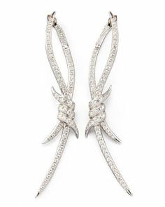 O5184 Stephen Webster Diamond Barbed Wire Earrings