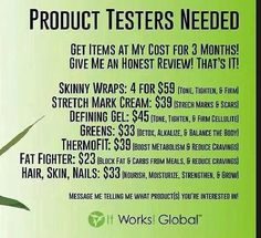 Looking for some product testers!! Who's in?!
