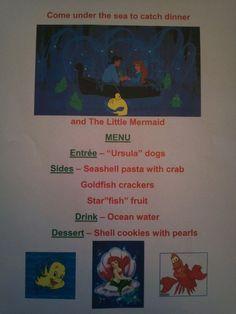Disney Dinner - The Little Mermaid