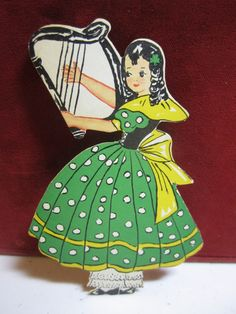 1930's die cut St. Patrick's Day decoration young by puffadonna, $7.00