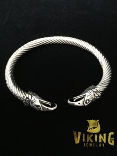 Viking Raven Steel Bracelet (B007) - Viking Merch  - 1