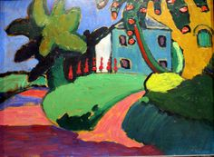 Gabriele Münter, Garten in Murnau - Garden at Murnau (ca. 1910)
