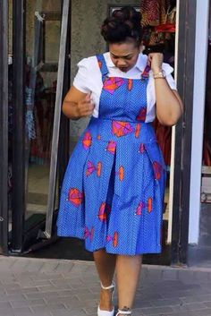 Temmie House Of Fashion: Lovely Ankara Style For The Smart Plus Size Divas at Diyanu African Print Skirt, African Print Dresses, African Print Fashion, African Fashion Dresses, African Fabric, African Dress, African Outfits, Ankara Fabric, African Attire