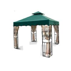 New MTN Gearsmith 10'x10' Double Tiered Replacement Garden Gazebo Canopy Top with Scallop Edge Sun Shade - Green MTN-Outdoor,http://www.amazon.com/dp/B00D8X08IA/ref=cm_sw_r_pi_dp_5za8sb1JNYZ63FCZ