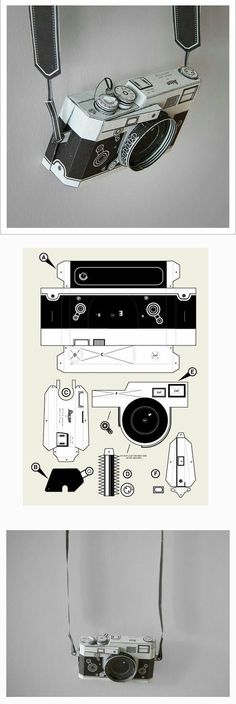 paper toy DIY paper Leica camera by Matthew Nicholson PDF Pinhole Camera, Leica Camera, Origami Paper, Diy Paper, Cool Paper Crafts, Paper Cards, Paper Camera, Papier Diy, Paper Toys