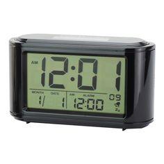 SL1900 LCD Thermometer Calendar Solar & Battery Power Alarm Clock Black - http://ucables.com/product/sl1900-lcd-thermometer-calendar-solar-battery-power-alarm-clock-black-2/