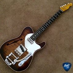Wow what a classy looking #tele this is #teletuesday #bigsby #guitar #studio33guitar (from @closalmazan)