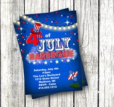 of July Invitation july barbeque bbq invitation printable red white and blue firework invite for independence day flag Printable Baby Shower Invitations, Baby Shower Invites For Girl, Elegant Invitations, Invitation Design, Independence Day Flag, Blue Fireworks, Thanksgiving Invitation, Graduation Party Invitations, 4th Of July
