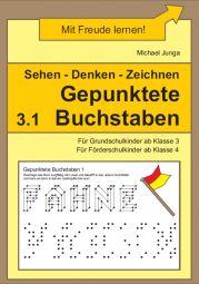 Gepunktete Buchstaben 3.1 | Auge-Hand-Koordination | Analoge Lerntrainings | Lerntrainings | Unterrichtsmaterialien, Arbeitsblätter & Übungsblätter | Mein-Unterrichtsmaterial.de