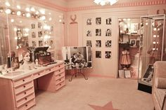 Lights, Camera, Action! Get inspired & see more amazing Beauty Room Designs at http://thebeautyroom.abeautyfulworld.com/.