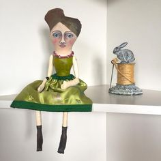 """Introducing """"Lillian"""", the newest Flora and Sadie doll. a hand painted cloth doll"""