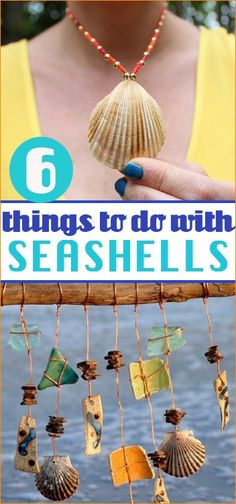 6 Things to do with Seashells.  Home decor and accessories using seashells.  Beach vacation memorabilia.