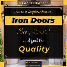 1500+ Iron Doors in Stock Free Local Delivery* Nationwide Shipping 25+ Years of Service Custom Orders Accepted (Any Size Any Design) .. Wrought Iron Doors Steel French Doors Sliding Doors Pivot Doors Bi-Fold Doors Pocket Doors Out-Swing Doors Garage Doors Barn Doors Patio Doors Steel French Windows Awning Windows Picture Windows Wrought Iron Gates and More .. ☎️ 877-205-9418 🌐 www.iwantthatdoor.com .. *Free delivery is available for our Instagram followers within a 15-mile radius of our office Pivot Doors, Sliding Doors, French Windows, French Doors, Barn Doors, Garage Doors, Wrought Iron Doors, Pocket Doors, Patio Doors