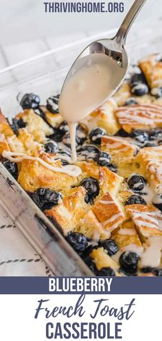 No need to slave away over the stove flipping French toast. Serve everyone at once with this easy and DELICIOUS Blueberry French Toast Casserole. What's even better is that this works as a make-ahead breakfast casserole. Keep it in the fridge or pop it in the freezer for an easy breakfast on a busy morning. Blueberry French Toast Casserole, Baked French Toast Casserole, Make Ahead Breakfast Casserole, French Toast Bake, Easy Delicious Recipes, Yummy Food, Tasty, Amazing Recipes, Healthy Breakfast Recipes