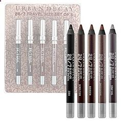 Urban Decay - 24/7 Glide-On Eye Pencil Travel Size Set of Five - Naked #sephora