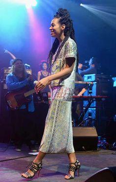 Solange Knowles wears Mary Katrantzou SS13 Jigsaw Dress