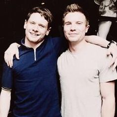 Two favorite lads on one picture. How awesome is that? Jack O'Connell and Joe Dempsie. (aka Cook  Chris)