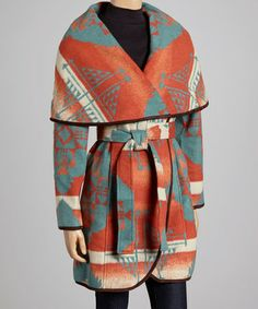 Take a look at this Orange Tribal Coat by Tasha Polizzi on #zulily today!