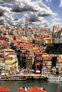 From the river toward Clergios tower ▓ Porto, Portugal. Worth a visit if you are in the north of Portugal. Places Around The World, Oh The Places You'll Go, Travel Around The World, Places To Travel, Places To Visit, Travel Destinations, Spain And Portugal, Portugal Travel, Portugal Trip
