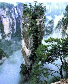 Zhangjiajie - shentangwan is a deep valley