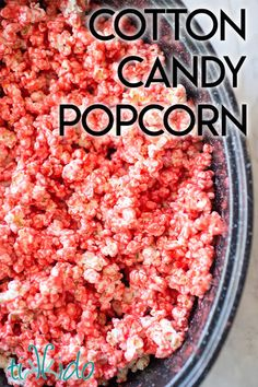 Cotton candy popcorn is a delicious variation on classic candied popcorn and is actually made with real cotton candy sugar, so it has that truly authentic flavor.  This makes an amazing cotton candy favor for a birthday party!