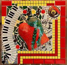 MY LATEST PIECE: BURLESQUE Mosaic Pots, Wall Plaques, Faeries, Burlesque, Kara, Original Art, Create, Mosaics, Painting