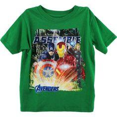 """Marvel Avengers """"Assemble"""" Green T-Shirt 4-7 (7) Marvel http://www.amazon.com/dp/B00A6982OG/ref=cm_sw_r_pi_dp_SzN6tb0P5PG87"""
