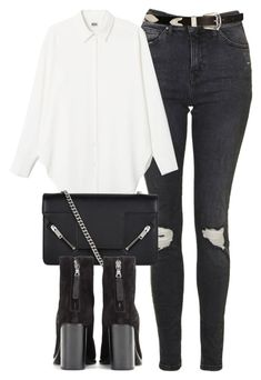 """""""Untitled #6062"""" by laurenmboot ❤ liked on Polyvore featuring Topshop, Yves Saint Laurent, rag & bone and ASOS"""