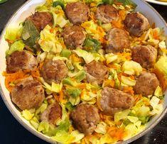 Klopsiki duszone w młodej kapuście - Blog z apetytem B Food, Polish Recipes, Kung Pao Chicken, Sausage, Dinner Recipes, Pork, Food And Drink, Lunch, Beef