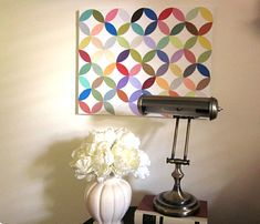 DIY wall art tutorial-- all it is is paint samples and modge podge!