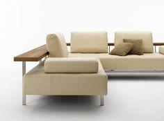 rolf benz dono sofa cream leather and walnut atelier plura sofa rolf benz