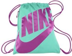 Nike Drawstring Gym Sack Backpack (One Size, Black/Pink) ... http ...