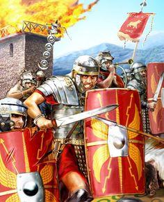 "0104 c. ""Dacian War, Legio V Macedonica"" Historical Art, Historical Pictures, Military Art, Military History, Ancient Rome, Ancient History, Imperial Legion, Fall Of Constantinople, Roman Armor"