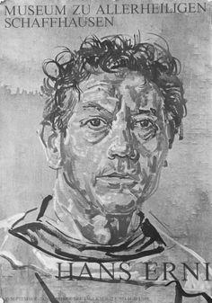 Hans Erni - Museum zu Allerheiligen, Schaffhausen, 'Hans Erni', 1966.  Porträt von H. Erni. Druckerei: E. Wolfensberger, Zürich.