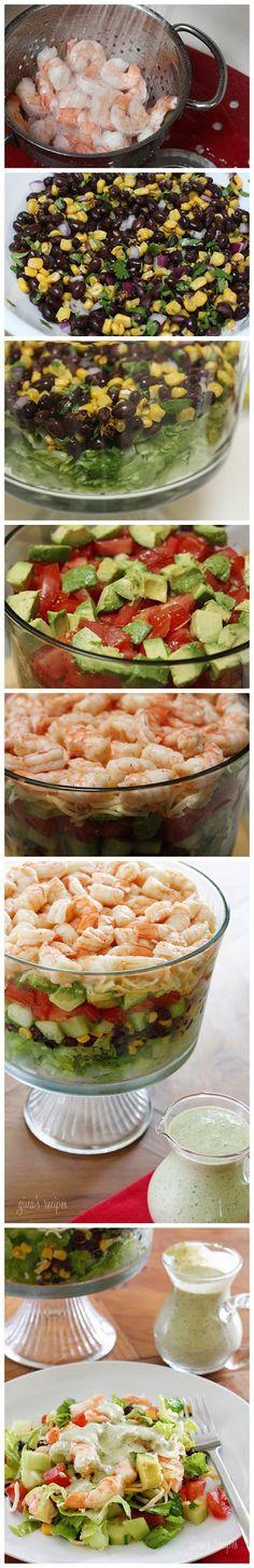 joysama images: Mexican Shrimp Cobb Salad. Modify for P3