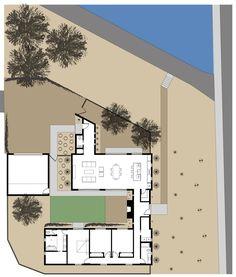 Casă din două module de clădire, cu grădină interioară, în stilul misiunilor spaniole - Sporul casei - Soluţii şi idei pentru casă şi grădină