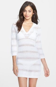 Tommy Bahama Hooded Pointelle Knit Cover-Up available at #Nordstrom