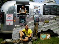 The Vegan Yacht helmed by Mike & Danielle Wood -- the Mock Chick'n Sammie is worth the line.