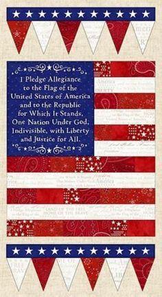American Dreams Pledge of Allegiance Flag by WovenTreasuresFabric
