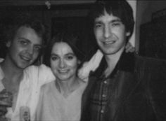 "Alan Rickman with Patrick Ryecart (Romeo) and Jacqueline Hill (Lady Capulet).""Romeo and Juliet"" Royal Shakespeare Company, Shakespeare Plays, Alan Rickman Young, Jacqueline Hill, Lady Capulet, Alan Rickman Always, Piece Of Music, Ares, Half Blood"