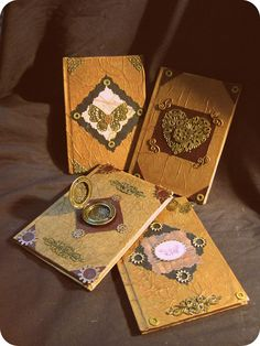 up-cycled journals with a Steampunk flair