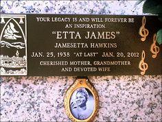 Etta James, Inglewood Park Cemetery, Inglewood, CA