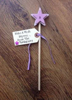 Toothfairy gift. Personalised wooden wand