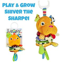 Play & Grow Shiver the Sharpei baby toy - grow and play, pull, crinkle, and love! #sponsored