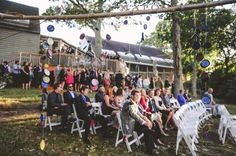 Guests await the wedding party at a beautiful September wedding #museumwedding Photo by: www.alyssamaloof.com